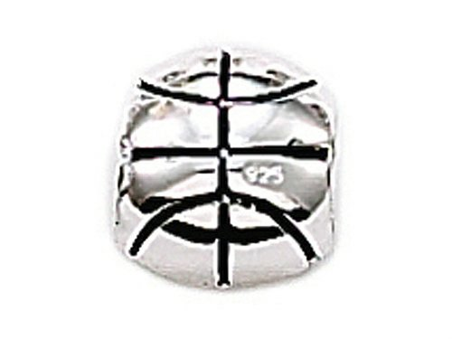 Zable Sterling Silver Basketball Bead / Charm