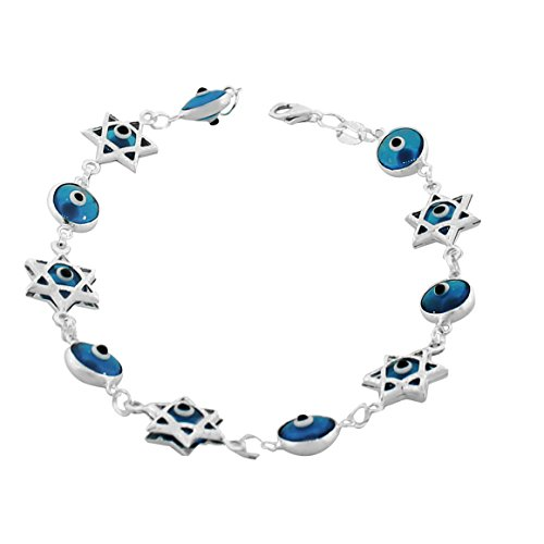 925 Sterling Silver Glass Blue