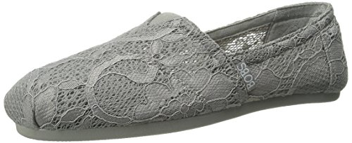 On Fashion BOBS Lace Grey from Women's Flat Skechers Plush Slip dYIZIwq