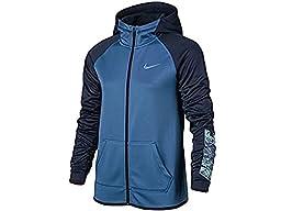 Girls\' Nike Therma Training Full-Zip Hoodie Star Blue 845606-443 (M)