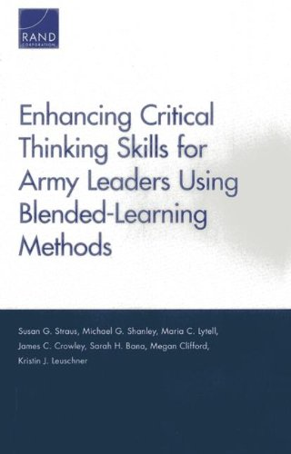 Enhancing Critical Thinking Skills for Army Leaders Using Blended-Learning Methods
