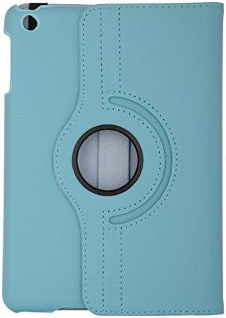 San Pareil, Apple iPad Mini, ipad Mini 2, ipad Mini 3, 360-Degree Rotating Hard Folio Case(SkyBlue) with Tablet Stand and Camera Hole, Made of PU Leather, with Extra Strong Back(ipad Mini, 2,3 only)