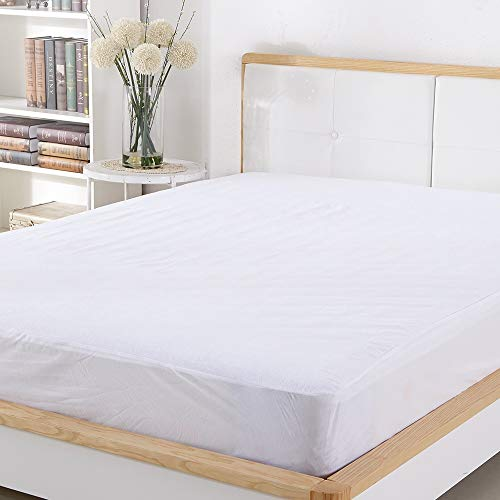Sable Mattress Protector Cover FDA Registered & 100% Waterproof Queen Size Five-Sided Protection, Breathable and Machine Washable, Vinyl Free
