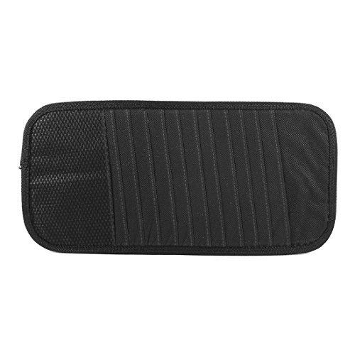 eDealMax Holder Auto Black Nylon Non Tessuto 12 Slot CD DVD dischi sacchetto dell'organizzatore