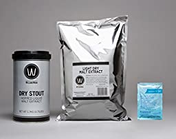 Premium Dry Stout No Boil Complete Beer Kit, Makes 5-6 gallons