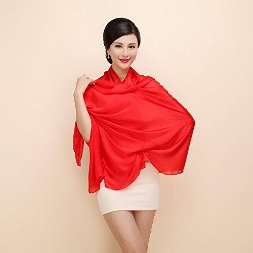 Coton En Long Rouge Pour Cou Femme Doux Elegant Acmede Foulard Hiver Chale Ete Soie Wrap Echarpe Cw0qZRU