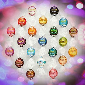 Lindt Lindor Assorted Chocolate Truffles 8-12 Flavors 100 Count In the Deluxe Tundras Gift Box