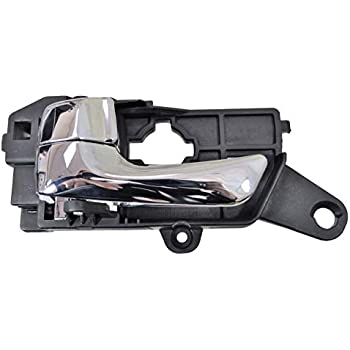 Interior Inner Inside Door Handle Chrome Lever with Brown Right Passenger Side