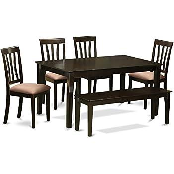 Phenomenal Amazon Com East West Furniture Caan6 Cap C 6 Pc Dining Uwap Interior Chair Design Uwaporg