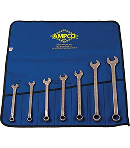 Ampco Safety Tools M-41 Combination Wrench Kit, Non-Sparking, Non-Magnetic, Corrosion Resistant, SAE