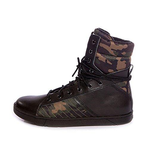 Heyday Footwear Men's High Top Tactical Trainer Black/Cam...