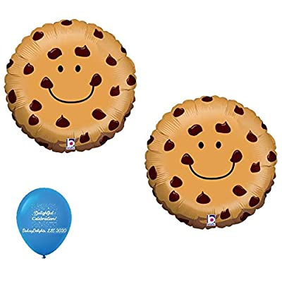 "DalvayDelights 2 Chocolate Chip Cookie Milk & Cookies Monster 21"" Party Mylar Balloons: Toys & Games"