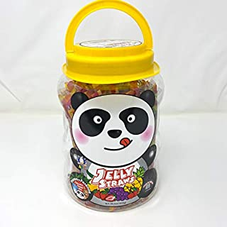 Funny Hippo ABC Jelly Straws Assorted, 58.2oz (1650g)