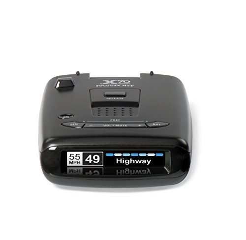ESCORT X70 Radar Detector with Live, Extreme Long Range, False Alert Filter, OLED Display, Voice Alerts