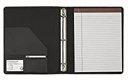 Leather 3-Ring Letter Size Binder Padfolio