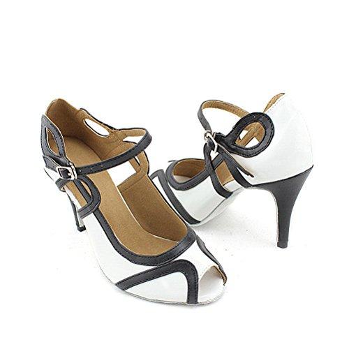 Cxs Ladies Open Toe Party Wedding Tacchi Scarpe Da Ballo Per Salsa Tango E Pratica, 3.3 Tacco