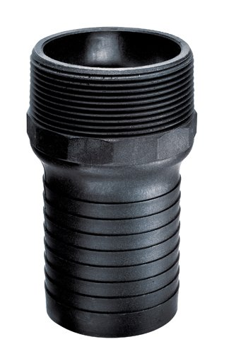 PPN Series//NPT Thread 100 PSI 1//2 Kuriyama of America Inc. Kuriyama PPN050 Polypropylene Combination Hose Nipples 1//2