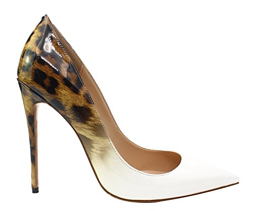 Ruanlei@Sexy de Tacones Altos/Clásicas Tacones Altos/fashion - Cerrado Mujer/Tacones de Charol ElegantesA la luz de la salvaje y elegante de alta Heel Shoes mujer white