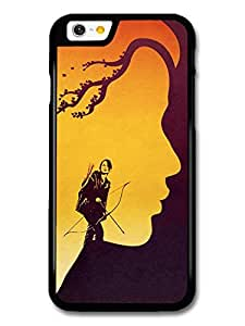 The Hunger Games Jennifer Lawrence Archery Girl with Branches Birds Illustration case for iPhone 6 A10846