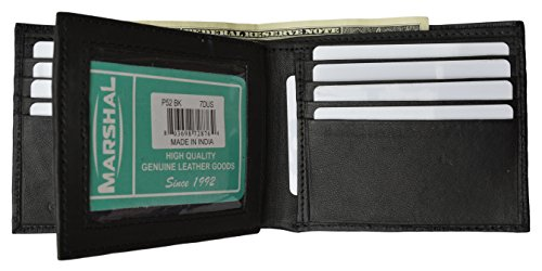 Marshal Premium soft latest style Bifold wallet For Men & Women | Genuine Leather Holder With 11 Slots, 2 Bill Compartments & ID Window | For Credit/Debit Cards, Money, Driver