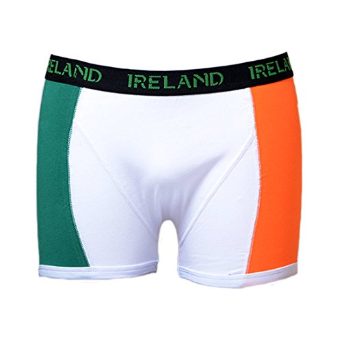 Carrolls Irish Gifts Boxer Shorts With Tri-Colour Print and Black Elastic Waist