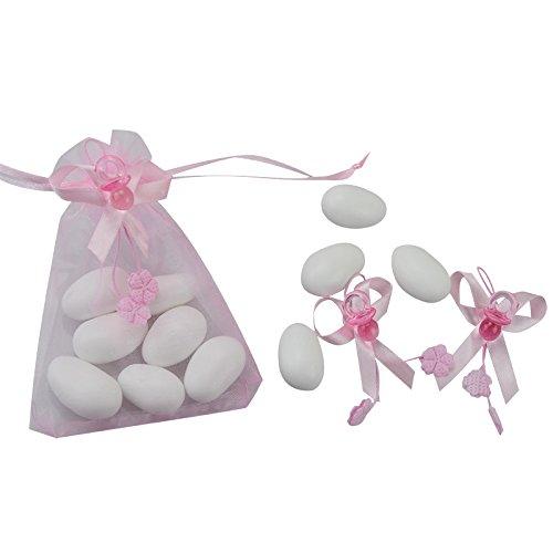 50 Chupetes para bombonera, 2 cm, color rosa, decoración con ...