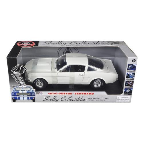 1966 Ford Shelby Mustang GT 350 Fastback White 1/18