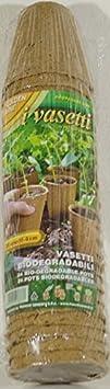 Tarros biodegradables para la tierra de Talea o de avalorios de todas las plantas diámetro CM 6