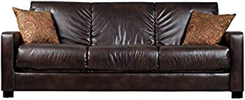 Portfolio Trace Brown Renu Leather Sofa Sleeper