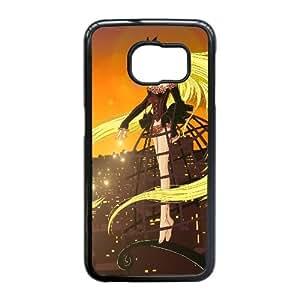 Chobits vestido de niña Rubio City 27878 Samsung Galaxy S6 Edge caja del teléfono celular funda Negro caja del teléfono celular Funda Cubierta EEECBCAAI70784