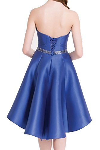 Short Blue Women's HONGFUYU Chiffon Dress Prom Homecoming Royal 190 Bridesmaid Dresses I6q6v