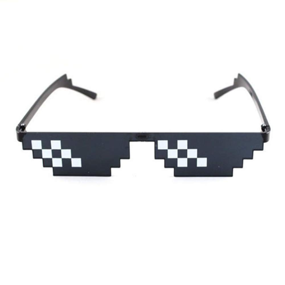 ZRTYJ Gafas de Sol Gafas 8 bit Gafas de Sol pixeladas ...