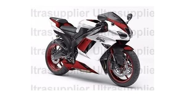 Amazon.com: White w/Red Injection Fairing Kit for 2007-2008 ...