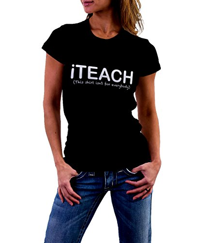 Se7en the Poet Women's Iteach T-Shirt Black/White (X-Large)