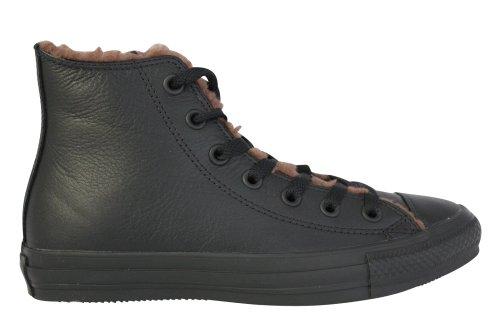 Converse Chuck Taylor Leather Fur Lined Black High Top (Men 5.5/Women 7.5)