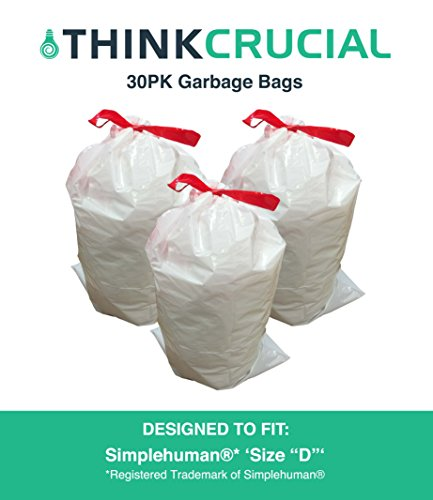 Think Crucial 30PK Durable Garbage Bags Fit Simplehuman Size
