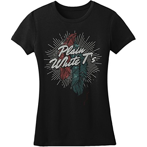 Plain White Ts Feather Girls Jr Medium Black