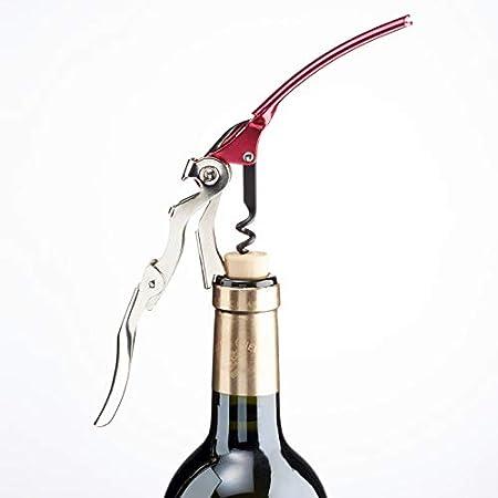 Long-Lever - Sacacorchos AIS-PRO color rojo - Sacacorchos oficial de la Asociación Italiana Sommelier