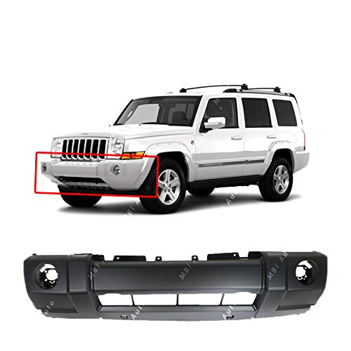 (MBI AUTO - Primered, Front Bumper Cover Fascia for 2006-2010 Jeep Commander Base 06-10, CH1000875)