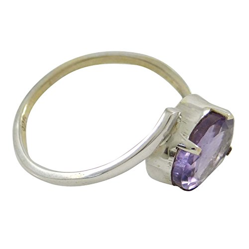 Banithani belle 925 anneau de pierres précieuses améthyste argent pur nouveaux bijoux mode