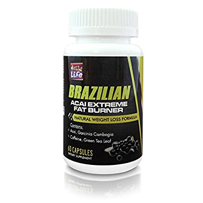 Samba Life - Real ACAI Fat Burn Diet Pill with Green Tea, Grapefruit, Apple Cider, and more for Natural Weight Loss and fat burning formula.