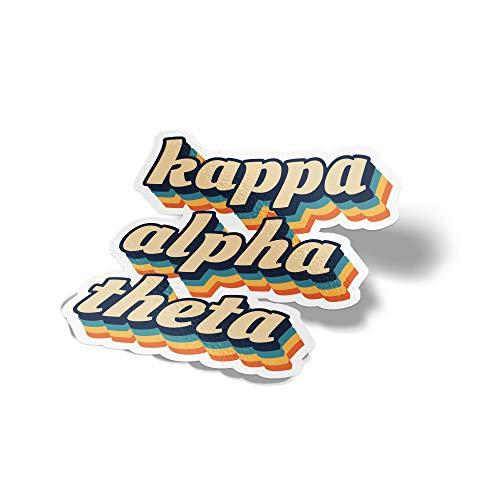 Desert Cactus Kappa Alpha Theta 70's Letter Sticker Decal Greek Tall for Window Laptop Computer Car Theta