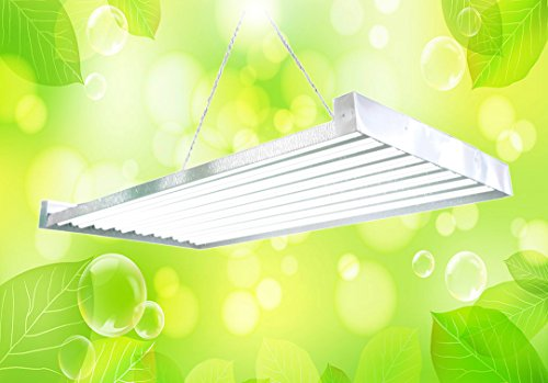 T5 HO Grow Light - 4 FT 16 Lamps - DL8416s Fluorescent Hydroponic Indoor Fixture Bloom Veg Daisy Chain with Bulbs