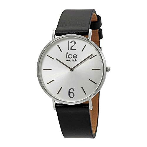 Ice-Watch - City Tanner Black Silver - Men's (Unisex) Wristwatch with Leather Strap - 001514 (Medium)
