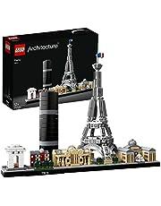 LEGO 21044 Architecture Parijs Modelbouwset met Eiffeltoren en het Louvre, Display en Verzamelmodel voor Volwassenen
