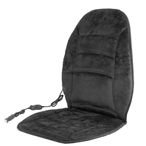 HealthMate IN9448 Black Deluxe Velour Heated Seat Cushion