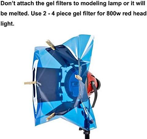 Selens Blaues Farbkorrektur Gel 40 6 X 50 8 Cm 4 Stück Kamera