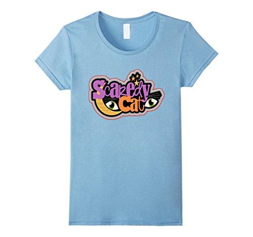Homemade Halloween Cat Costumes Women (Womens Halloween Costume Shirt Scaredy Cat Cute Halloween XL Baby Blue)