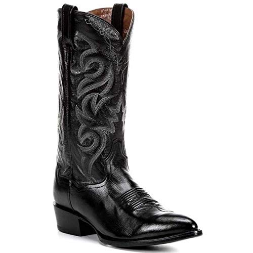 Men's Dan Post Milwaukee Genuine Leather Handmade Cowboy Boots Black
