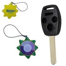 HQRP 4 Buttons Key Fob for Honda Civic 2006 2007 2008 2009 2010 2011 Remote Uncut Shell plus HQRP UV Chain / UV Radiation Health Meter